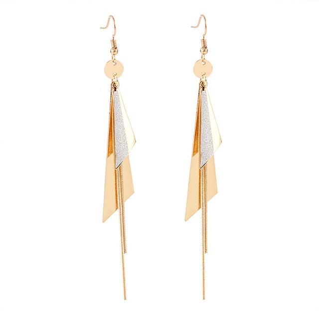 Femme Boucle d'Oreille Pendantes Long dames Européen Mode Elégant Des boucles d'oreilles Bijoux Dorée Pour Casual Quotidien 1 paire