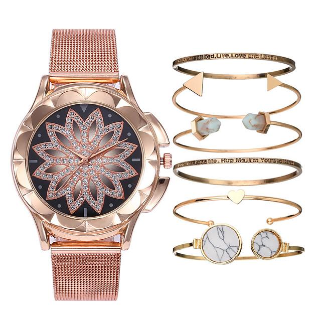 Dame Armbåndsur Diamond Watch Quartz Gavepakke damer Kronograf Analog Svart / Rose Gull Hvit Svart / Ett år / Lær / Ett år