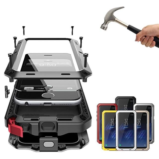 Кейс для Назначение Apple iPhone XS / iPhone XR / iPhone XS Max Защита от удара / Защита от пыли / Защита от влаги Чехол Однотонный Твердый Металл
