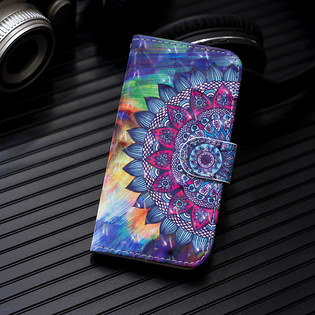 Case For Huawei Huawei P20 / Huawei P20 Pro / Huawei P20 lite Wallet / Card Holder / with Stand Full Body Cases Mandala Hard PU Leather / P10 Lite