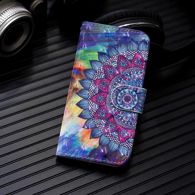 Etui Til Huawei Huawei P20 / Huawei P20 Pro / Huawei P20 lite Pung / Kortholder / Med stativ Fuldt etui Mandala-mønster Hårdt PU Læder / P10 Lite