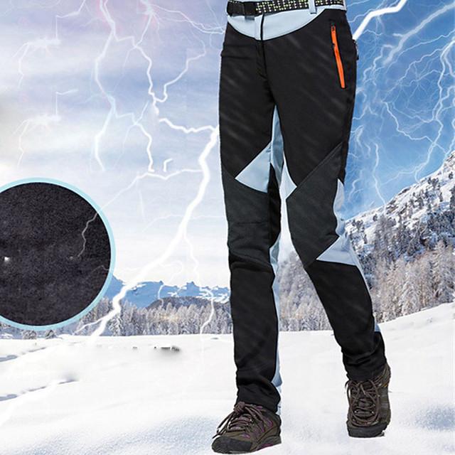 Femme Pantalons de Ski Ski Snowboard Sports d'hiver Chaud Etanche Zip étanche 100% Coton Chenille Polyster Salopettes Tenue de Ski / Hiver
