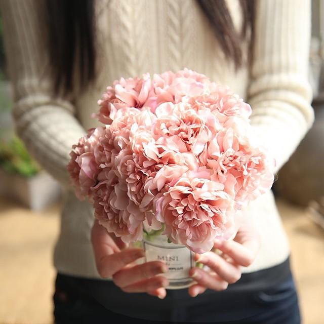 모란 꽃 무리 인공 꽃 가정 장식 결혼식 가짜 꽃 5 꽃다발 14 * 26cm