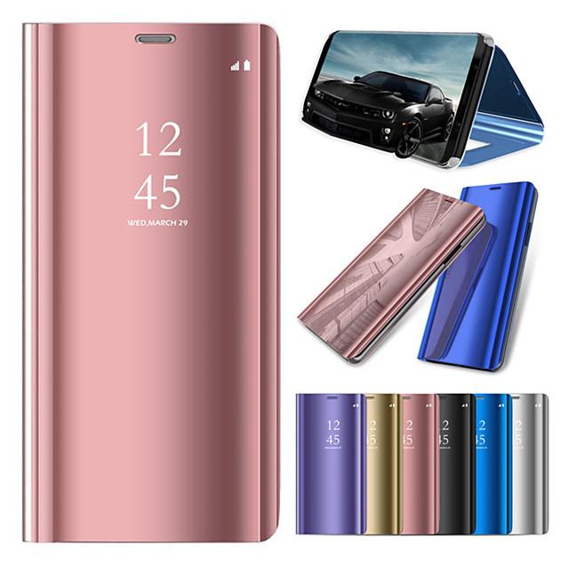 Кейс для Назначение Huawei Huawei Honor 10 / Huawei Honor 9 Lite / Huawei Honor 8X со стендом / Покрытие / Зеркальная поверхность Чехол Однотонный Твердый ПК