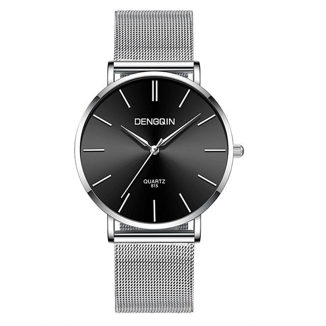 สำหรับผู้ชาย นาฬิกาข้อมือ นาฬิกาอิเล็กทรอนิกส์ (Quartz) ความหรูหรา กันน้ำ ระบบอนาล็อก ดำ / น้ำเงิน Black / Silver Black / Rose Gold / หนึ่งปี / สแตนเลส