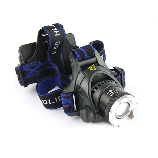 LS059 Frontale Becul farurilor Rezistent la apă Reîncărcabil 1200 lm LED LED 1 emițători 3 Mod Zbor cu Baterii și Încărcătoare Rezistent la apă Zoomable Reîncărcabil Focalizare Ajustabilă Rezistent