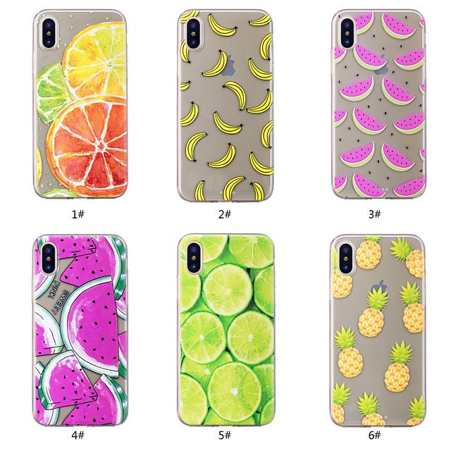 Etui Til Apple iPhone XS / iPhone XR / iPhone XS Max Mønster Bakdeksel Mat / Frukt Myk TPU