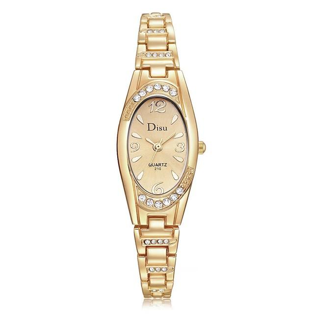 Dam Armbandsklocka Armbandsur Diamond Watch Quartz damer Vardaglig klocka Ramtyp Guld Rosguld Guld / Vit / Ett år / Diamant Imitation / Ett år