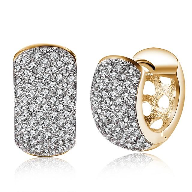 Žene Zlato Kubični Zirconia mali dijamant Naušnica Klasičan dame Moda Naušnice Jewelry Zlato Za Party Dnevno 1 par