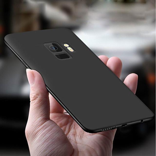 غطاء من أجل Samsung Galaxy S9 / S9 Plus / S8 Plus نحيف جداً / مثلج غطاء خلفي لون سادة ناعم TPU