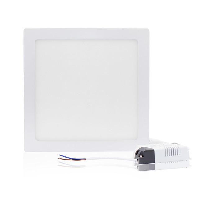 zdm 1pc 18w 1600-1700 lm pătrat plat LED-uri panoul de lumină lampultra-subțire condus încastrat plafon lumina naturale alb / rece alb / cald alb ac85-265v