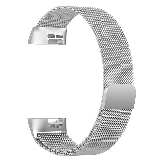 Bracelet de Montre  pour Fitbit Charge 3 Fitbit Bracelet Milanais Acier Inoxydable Sangle de Poignet
