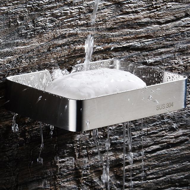 porte-savons et supports creux contemporain en acier inoxydable 1pc - salle de bain bain d'hôtel simple mural