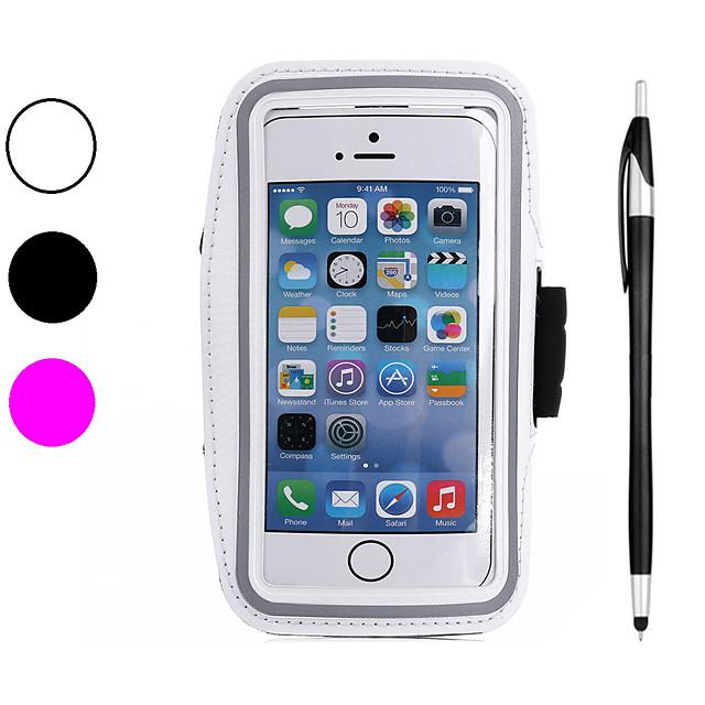 Carcasă Pro Apple iPhone XS / iPhone XR / iPhone XS Max Sportovní pouzdra na ruku / Nárazuvzdorné / Prachuodolné Pásek na ruku Jednobarevné Měkké Uhlíkové vlákno
