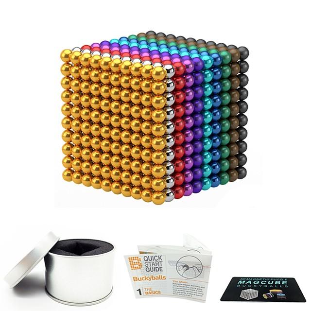 1000 pcs 3mm 5mm Jouets Aimantés Boules Magnétiques Blocs de Construction Aimants de terres rares super puissants Aimant Néodyme Jouets Aimantés Magnétique Soulagement de stress et l'anxiété Jouets