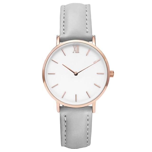 Pentru femei Ceas de Mână Quartz femei Cronograf Analog Argintiu / gri Alb / roz Negru / gri / Un an / Piele / Un an / SSUO 377