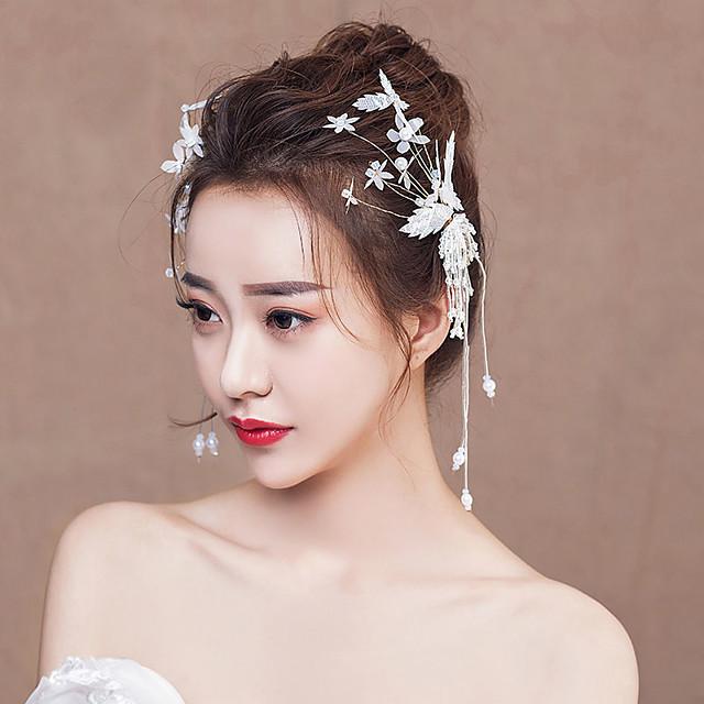 Sposa Nappa Farfalla Stile cinese Elegante Cappelli Pinze ...