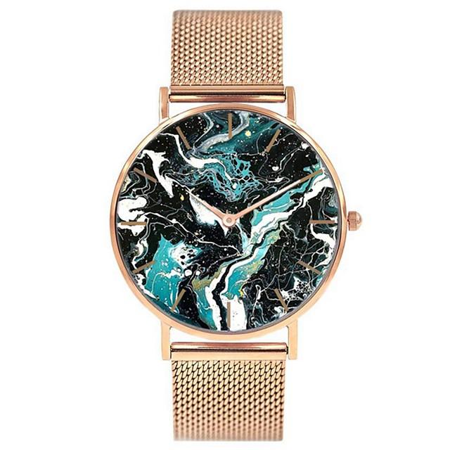 Dames Polshorloge Gouden Horloge Kwarts Dames Chronograaf Analoog Goud Rose Goud Zilver / Twee jaar / Roestvrij staal / Japans / Japans / Twee jaar
