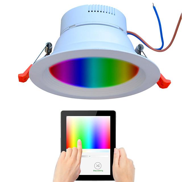 1 pc 9 W 720 lm 48 Perles LED Spectre complet Intensité Réglable Installation Facile LED Encastrées RGB + Blanc 110-240 V Commercial Maison / Bureau Salon / Salle à Manger