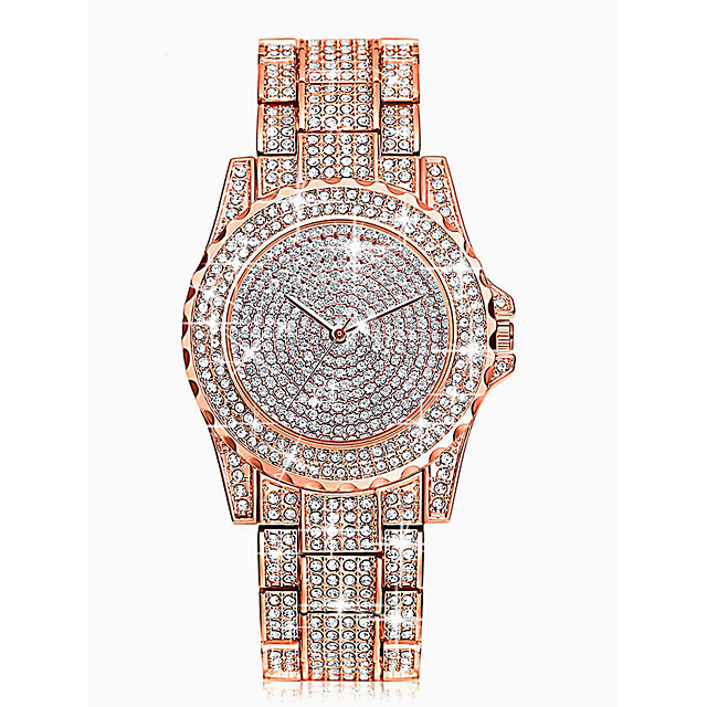 Dames Polshorloge Diamond Watch Gouden Horloge Kwarts Dames Waterbestendig Analoog Goud Rose Goud Zilver / imitatie Diamond