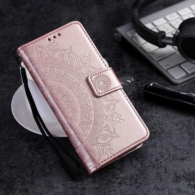 Custodia Per Motorola MOTO G6 / Moto G6 Play / Moto G6 Plus A portafoglio / Porta-carte di credito / Con chiusura magnetica Integrale Fiore decorativo Resistente pelle sintetica