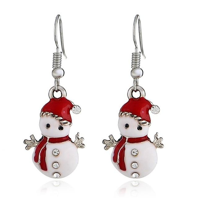 Pentru femei Cercei Picătură Lung #D femei Dulce Ștras cercei Bijuterii Argintiu Pentru Crăciun 1 Pair