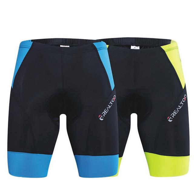 Pantaloni scurți Pantaloni Respirabil Uscare rapidă Bicicletă Verde și Negru Albastru și Negru Spandex pentru Bărbați Pentru femei Adulți Ciclism / Bicicletă / Ciclism stradal
