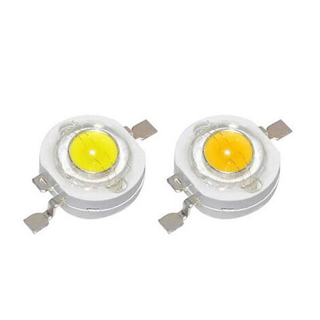 SENCART 10pcs Højspændings-LED GDS / Bulb tilbehør Aluminium LED Chip Klar til DIY LED Flood Light Spotlight 1 W