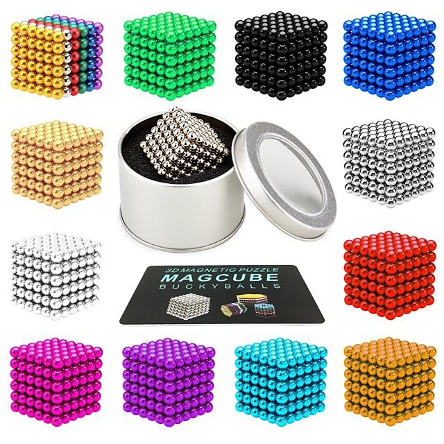 216 pcs 3mm 5mm Jouets Aimantés Boules Magnétiques Blocs de Construction Aimants de terres rares super puissants Aimant Néodyme Jouets Aimantés Aimant Néodyme Magnétique Soulagement de stress et