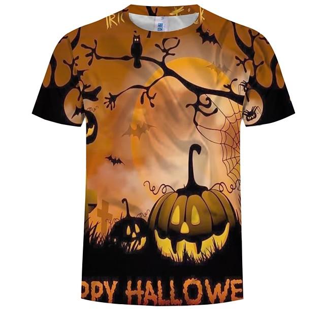 Inspiré par Cosplay Cosplay Manga Costumes de Cosplay Japonais Cosplay T-shirt Graphique / Potiron / Halloween Manches Courtes Tee-shirt Pour Homme