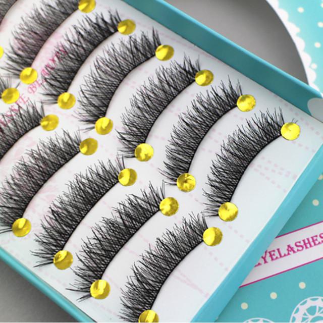 Cil 20 pcs Design Tendance Pro Naturel Epais Fibre Soirée / Fête Usage quotidien Entraînement Cils Entiers Epais - Maquillage Maquillage Quotidien Haute qualité Cosmétique Accessoires de Toilettage