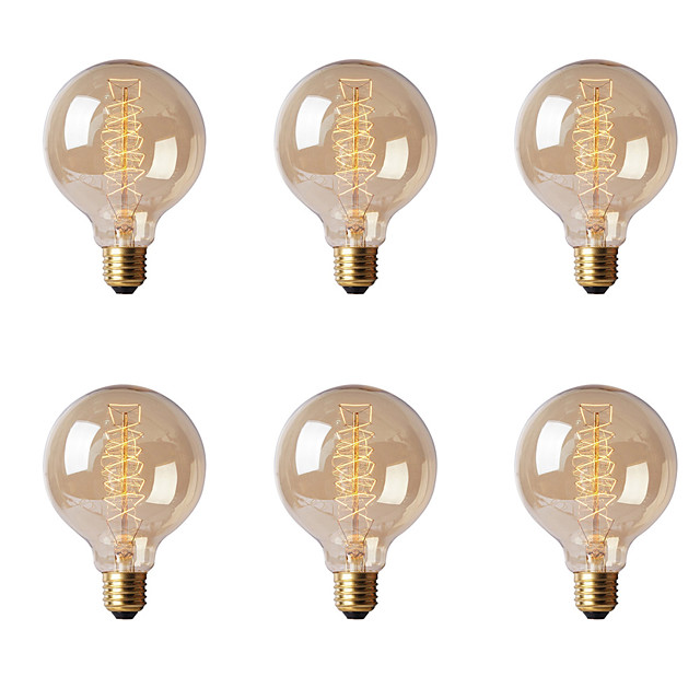 Ecolight™ 1ks 40 W E26 / E27 / E27 G80 Teplá bílá 2300 k Incandescent Vintage Edison žárovka 220-240 V