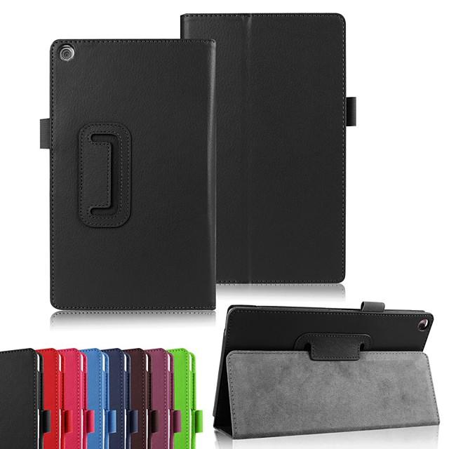 غطاء من أجل Asus ASUS ZenPad S 8.0 Z580C / ASUS Zenpad S 8.0 Z580CA / ASUS ZenPad 8.0 Z380M مع حامل / قلب / أورجامي غطاء كامل للجسم لون سادة قاسي جلد PU