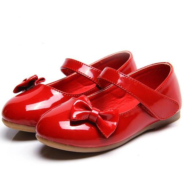 Voor meisjes Platte schoenen Comfortabel PU Peuter (9m-4ys) Kleine kinderen (4-7ys) Dagelijks Wit Zwart Rood Herfst Lente