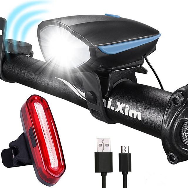 LED Eclairage de Velo Kit Eclairage Bicyclette Vélo Rechargeable Eclairage de Vélo Arrière Eclairage sécurité / feu clignotant velo VTT Vélo tout terrain Vélo Cyclisme Imperméable Antibrouillard