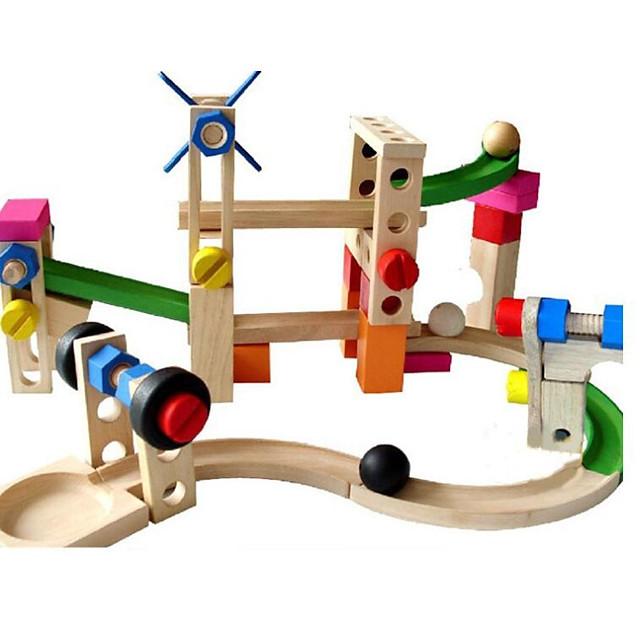 Blocs de Construction Marble Run Race Construction Circuit à Bille 38 pcs Créatif Boule compatible En bois Legoing Fait à la main Interaction parent-enfant Tous Garçon Fille Jouet Cadeau / Enfants