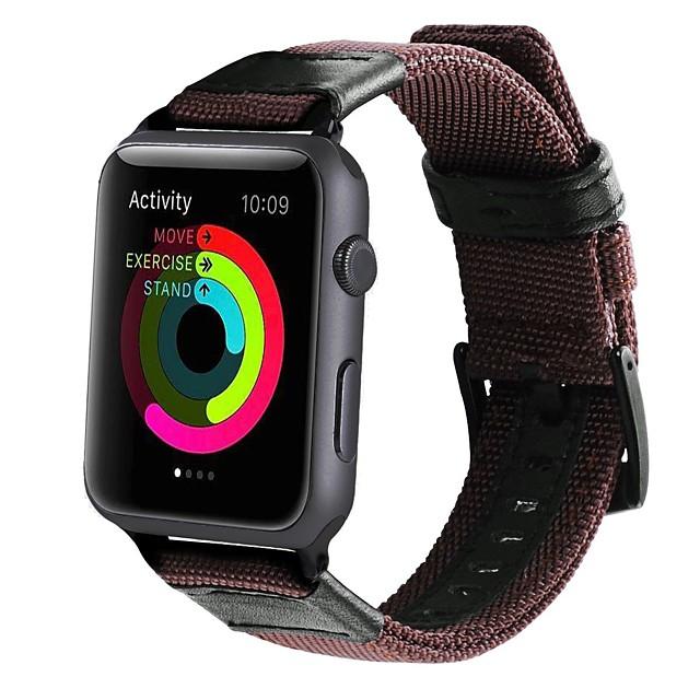 Uita-Band pentru Apple Watch Series 5/4/3/2/1 Apple Catarama Clasica Nailon / Canava Curea de Încheietură