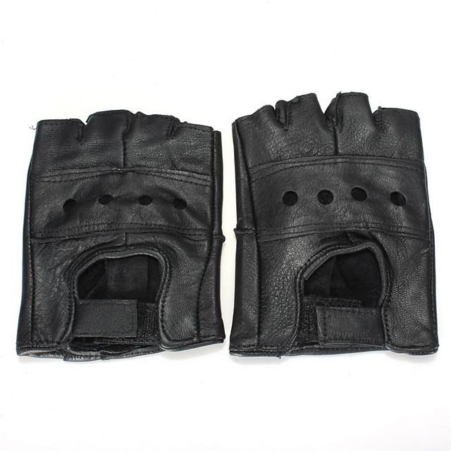 Half-deget Bărbați Mănuși Motociclete Piele de vacă Respirabil / Rezistent la uzură / Protector