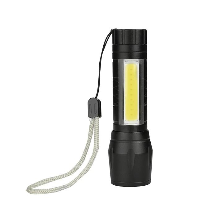 brelong portable mini cob light lampe de poche batterie intégrée 1 pc