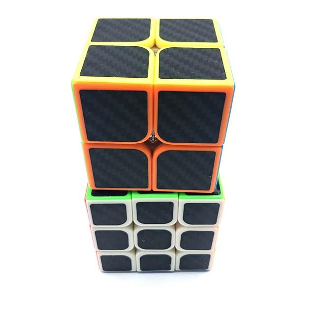 Ensemble de cubes de vitesse 2 pcs Cube magique Cube QI 2*2*2 3*3*3 Cubes Magiques Anti-Stress Casse-tête Cube Niveau professionnel Professionnel Résistant Enfant Adolescent Adulte Jouet Cadeau
