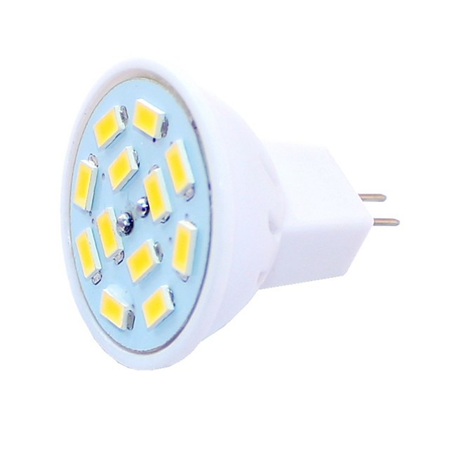 6pcs 1.5 W Faretti LED 450 lm G4 MR11 MR11 12 Perline LED SMD 5730 Decorativo Bianco caldo Luce fredda 12-24 V