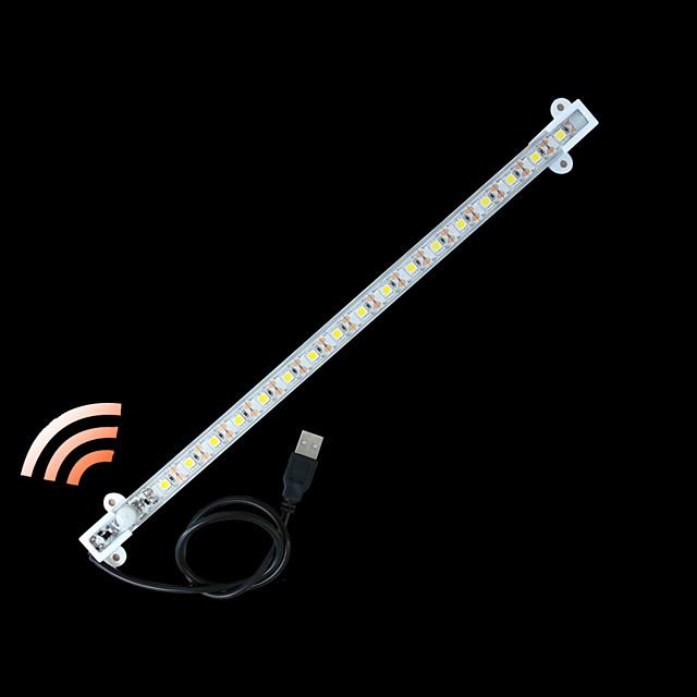 ZDM® 0.33m قضبان أضواء LED الصلبة أضواء الذكية 17 المصابيح 5050 SMD 1PC أبيض دافئ أبيض كول ضد الماء يو اس بي تصميم جديد USB آلي ب