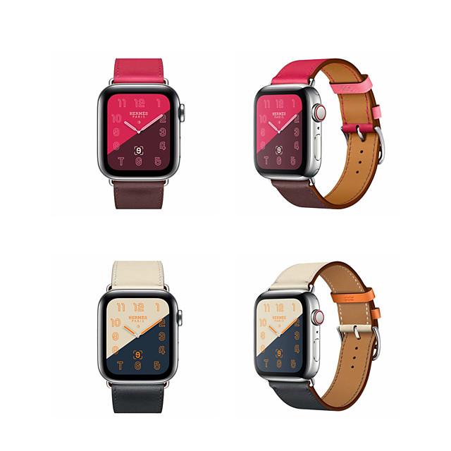 Urrem for Apple Watch Series 5/4/3/2/1 Apple Klassisk spænde Ægte læder Håndledsrem