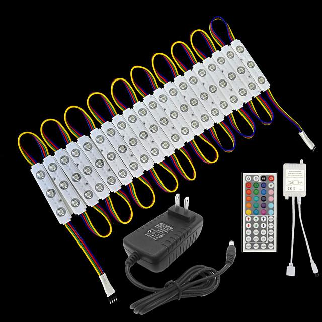 ZDM® 3.3m Bară Rigidă Cu Becuri LED Bare De Becuri LED Rigide 60 LED-uri SMD5050 1 44 Controlul telecomenzii 1 cablu AC Adaptor de alimentare de 1 x 2A 1set RGB Rezistent la apă Creative Petrecere 12