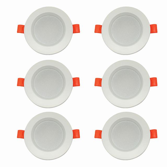 6pcs 5 W 360 lm 10 Perles LED Installation Facile Encastré LED Encastrées Blanc Chaud Blanc Froid 220-240 V Maison / Bureau Salon / Salle à Manger / CE