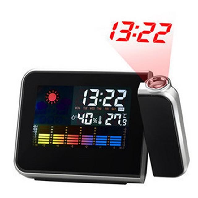 écran lcd numérique station météo calendrier de projection projecteur snooze réveil