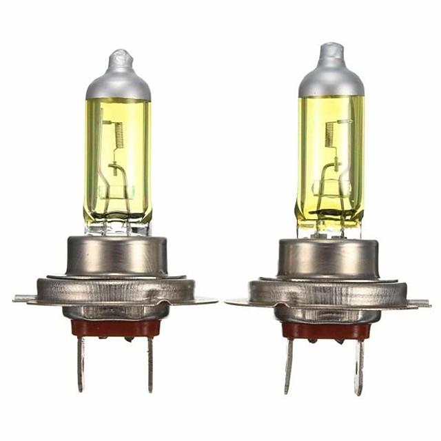 2pcs H7 Automatique Ampoules électriques 55 W 1800 lm Halogène Lampe Frontale Pour Universel / Volkswagen / Toyota General Motors Toutes les Années