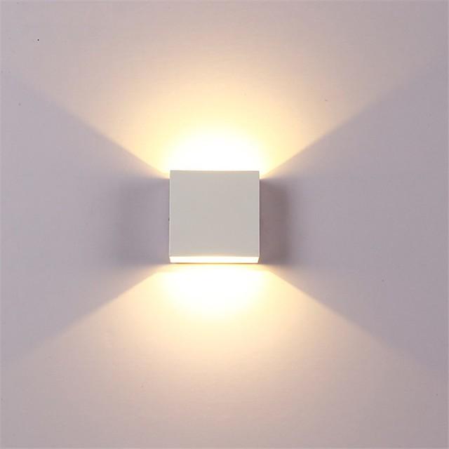12w 알루미늄 벽 라이트 레일 프로젝트 광장 방수 벽 램프 머리맡의 방 침실 예술을 주도