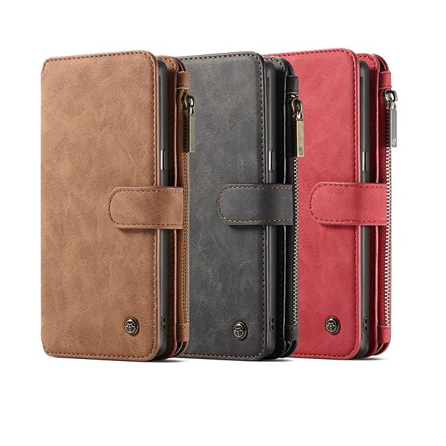 Case Kompatibilitás Samsung Galaxy Note 9 / Note 8 Pénztárca / Kártyatartó / Ütésálló Héjtok Egyszínű Kemény PU bőr