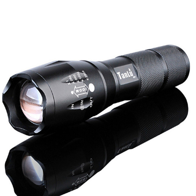 Lanterne LED Rezistent la apă Reîncărcabil 3000 lm LED LED emițători 5 Mod Zbor Cu Baterie și Încărcător Rezistent la apă Zoomable Reîncărcabil Focalizare Ajustabilă Foarte luminos De mare putere